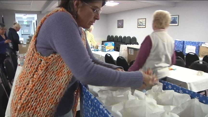 One local group is trying to help ease the pain of feeling homesick during the holidays for military servicemen and women.