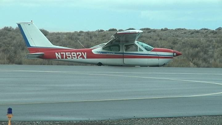 A plane crashed at the Richland Airport Sunday night.