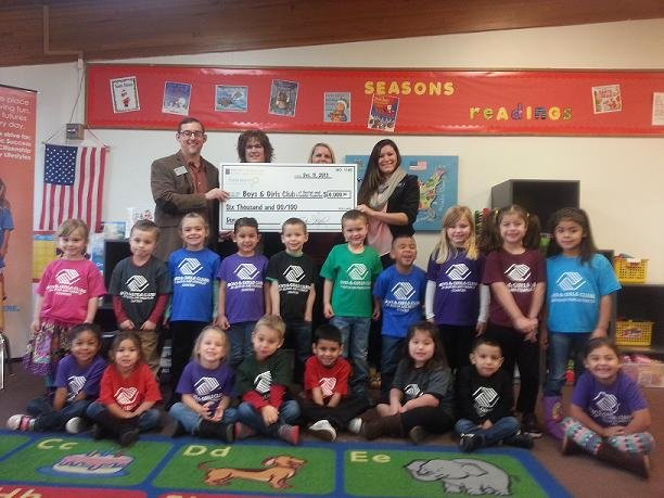 The future is a bit brighter for the Boys & Girls Club of Benton and Franklin Counties, after Hayden Homes presented the organization with a check for $6,000 dollars Wednesday morning.