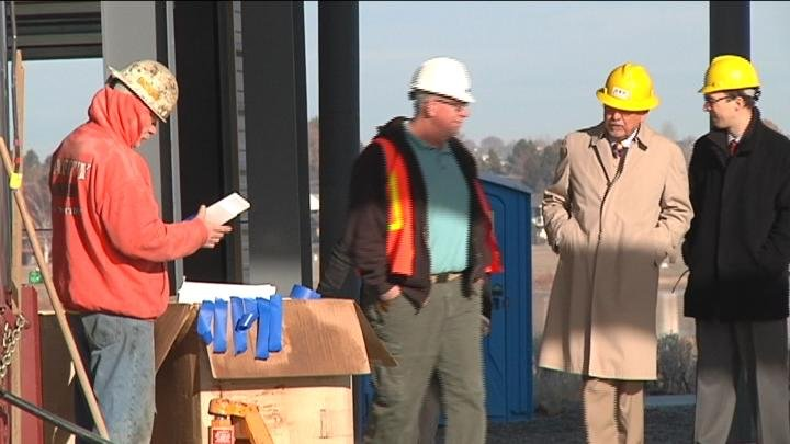 On Monday, Representative Doc Hasting made his first visit to the site of the new Hanford Reach Interpretive Center.