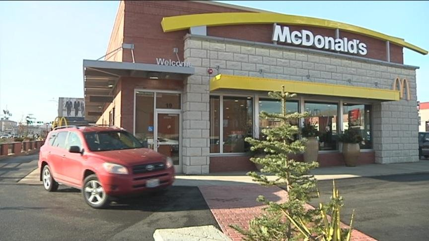 The McDonalds on the corner of Yakima Avenue and South First Street welcomed customers for the first time Monday.