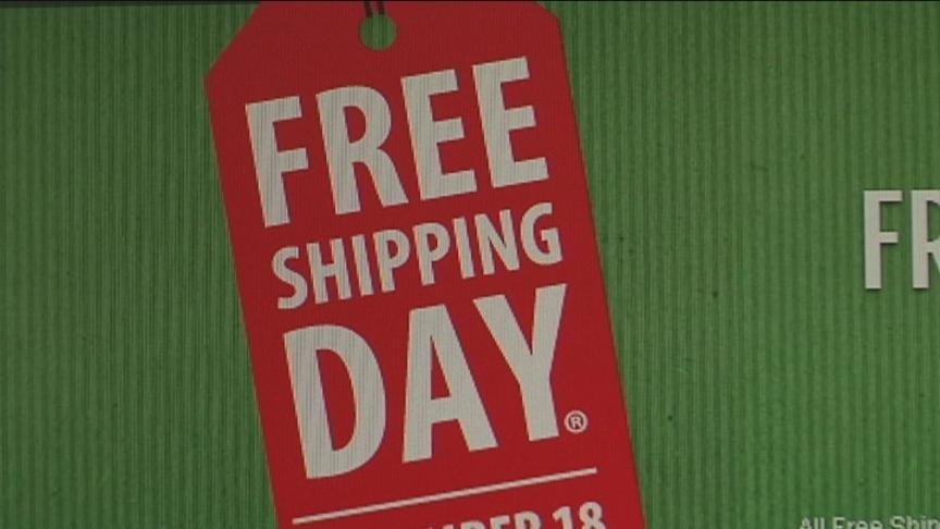Nearly half of holiday shoppers will turn to the Internet Wednesday to finish their holiday shopping lists, and good news for them, it is free shipping day for more than 900 retailers.