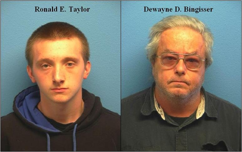 16-year-old Ronald Edward Taylor (left) and 53-year-old Dewayne Douglas Bingisser (right)