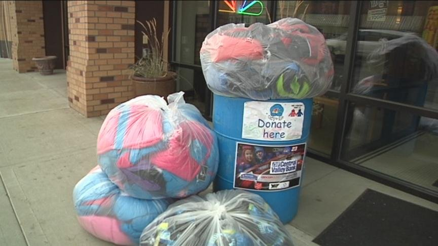 A big donation for our Coats for Kids drive in Yakima Friday morning.