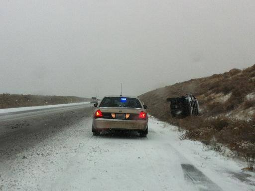 Drivers should be prepared for accidents in snowy conditions and know what to do in the aftermath of a crash.