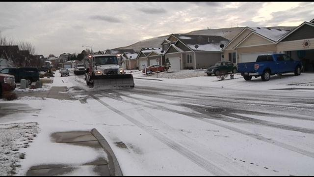 The snow Friday created some extra work for local city street crews.
