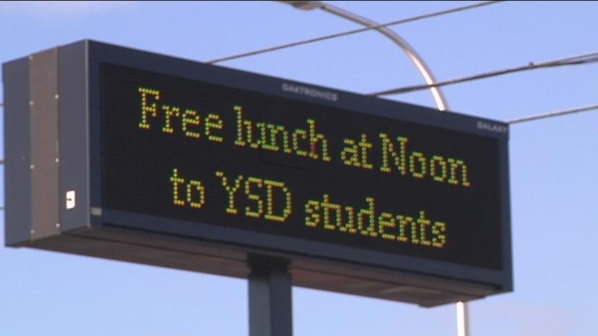 The Yakima School District is handing out free lunches to students during winter break.
