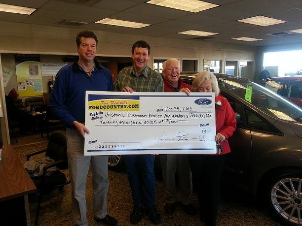 After 40 years of doing business locally, owners at Tom Denchel's Ford Country in Prosser continue to invest in the community.