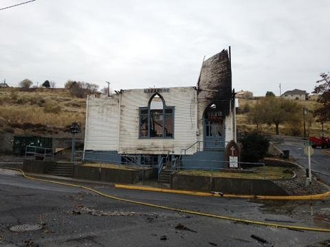 Members of the Church of the Nazarene in Arlington had hoped to be back in their church building by this time of the year.