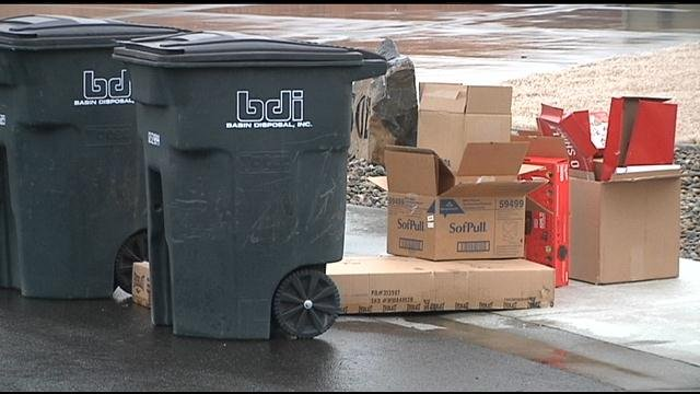 Hot items like big screen tv's and tablets flew off the shelves this holiday shopping season. They ended up under your Christmas trees and now those boxes are leaving clues for thieves.