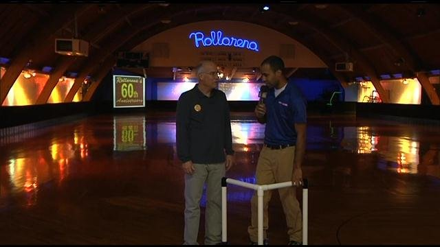 Our morning reporter Zac Summers took quite the fall Thursday morning during his interview at Rollarena Skating Center. And of course, we caught it all on tape.