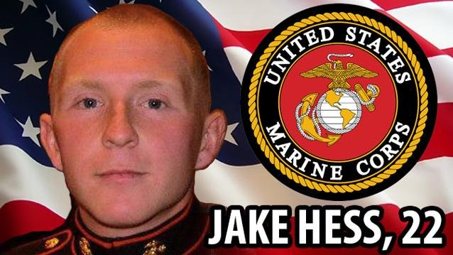 Marine Sgt. Jacob Hess died January 1, 2014 in Afghanistan.