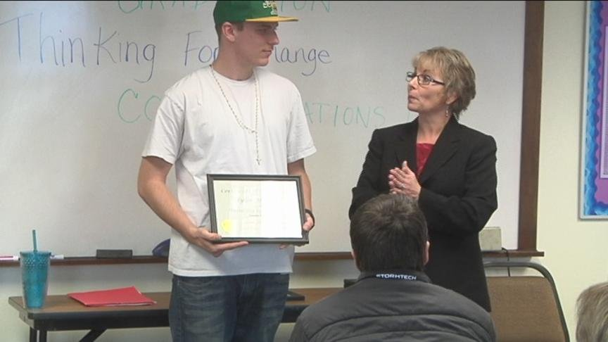 """On Thursday, NBC Right Now was back in the classroom to see some familiar faces graduate from the """"Thinking for a Change"""" program."""