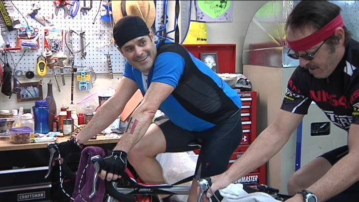 A local man is bike riding for himself, his son and the new Kadlec NICU expansion.
