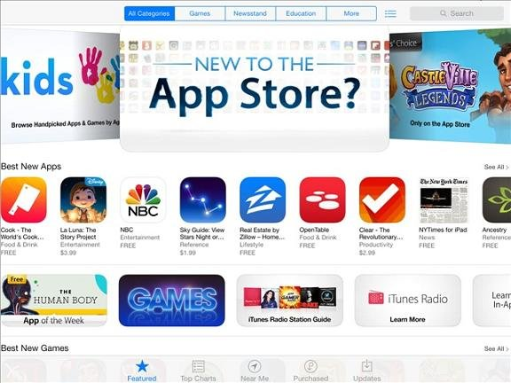 "Apple says people spent more than $10 billion in its app store last year, on apps such as ""Minecraft,"" ''Angry Birds Star Wars"" and ""Sleep Cycle"" alarm clock."