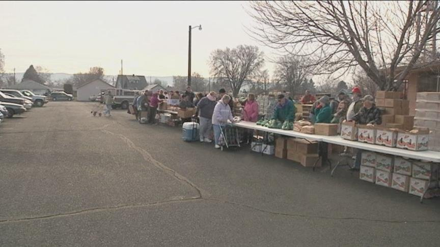 On Wednesday, a semi-truck from second harvest will stop at the Grace Lutheran Church south of Nob Hill Boulevard to hand out food to low-income families.