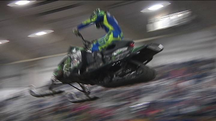The Ranch & Home Arena at the TRAC Center has been transformed into a muddy and bumpy course for Arenacross racers this weekend.