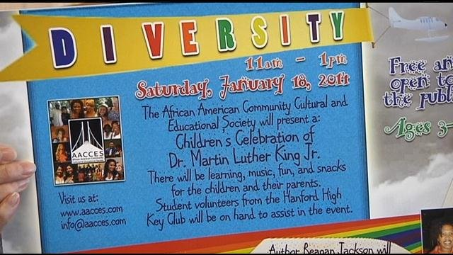On Saturday, January 18th, the Richland Library will be hosting a children's event to celebrate Dr. Martin Luther King. Jr.