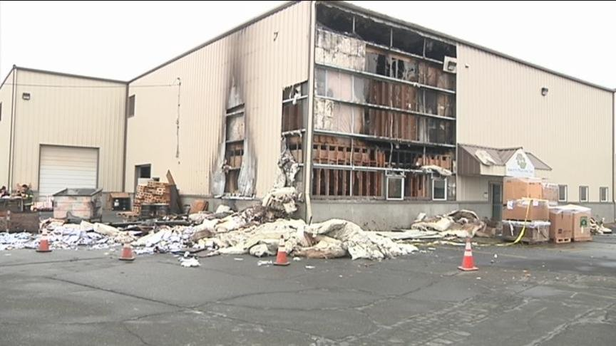 A dumpster fire in Yakima Monday morning severely damaged a local printing business.