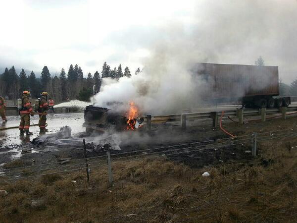 Truck Fire Temporarily Closes Eb I 90 Near Cle Elum Nbc