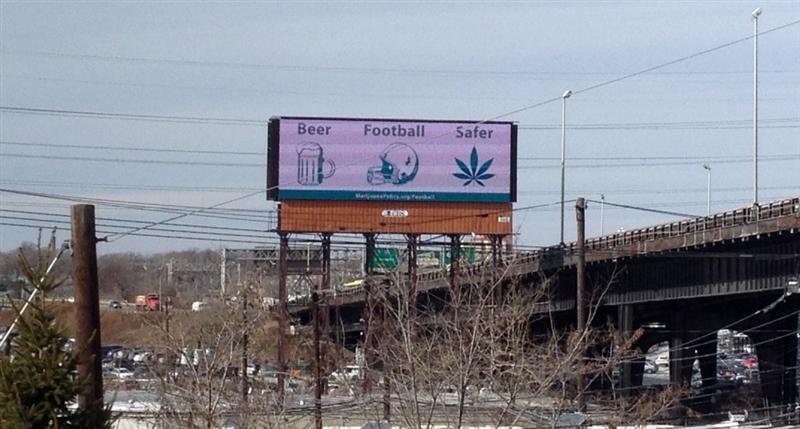 Billboards in New Jersey, supporting marijuana legalization
