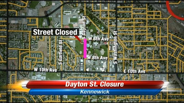 On Thursday, January 30th, a portion of Dayton Street in Kennewick will be closed.