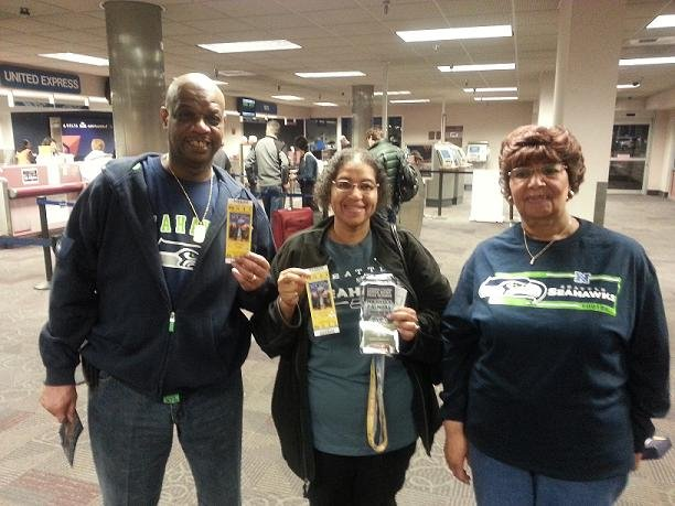 NBC Right Now caught up with Michelle and Barry Palmore who got tickets to the big game after Michelle's mom, Helen, won a Super Bowl package from Legends Casino.