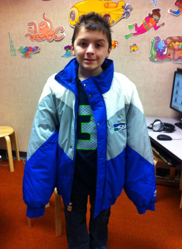 Seahawks fans are getting amped up for Sunday's big game and one young hawks fan coping with cancer received some Seahawks spirit Friday.
