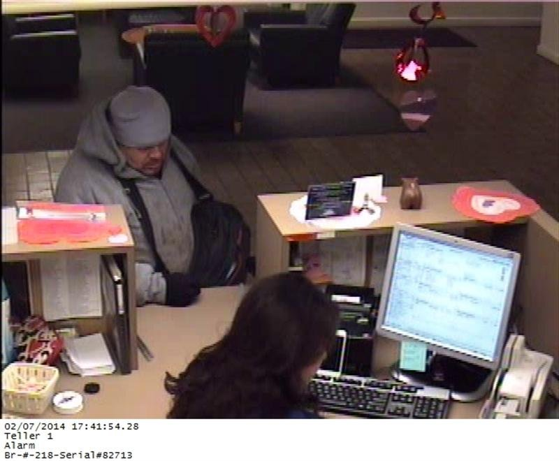 Yakima Police are looking for a man wanted for robbing a Bank of the West on Yakima Avenue Friday evening.