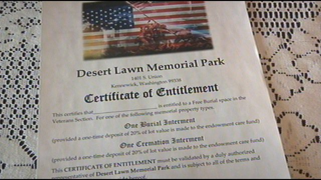 Some offers just seem too good to be true. And when a Kennewick veteran got a call offering him to make plans for a free cemetery plot, he figured it was just a scam.