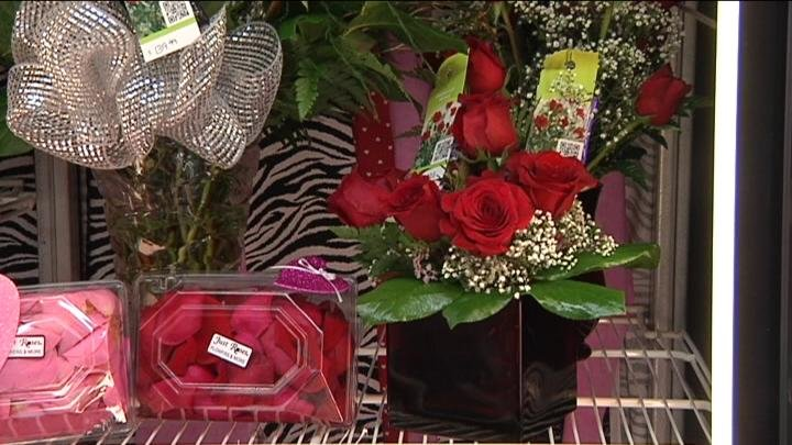 Just Roses in the Uptown Mall has only been open since August and this was their first Valentine's Day too; they started receiving orders over two weeks ago.
