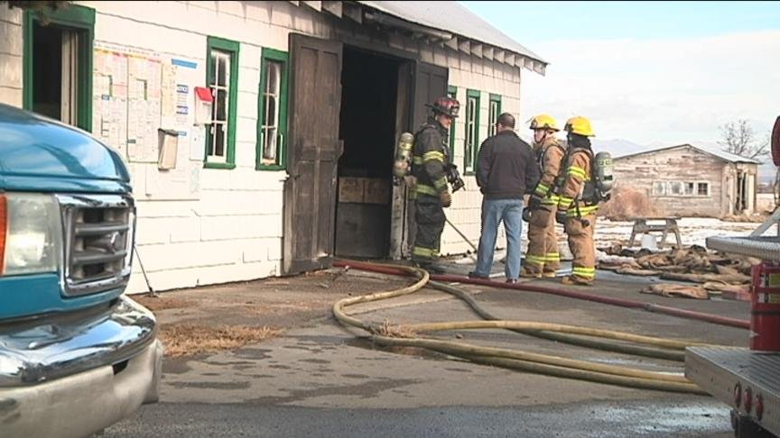 West Valley Firefighters said an oil furnace malfunctioned and started a shed fire Friday afternoon.