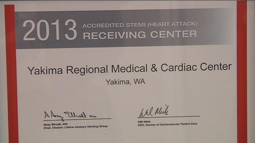 The American Heart Association is recognizing Yakima Regional Medical and Cardiac Center for its cardiac care.