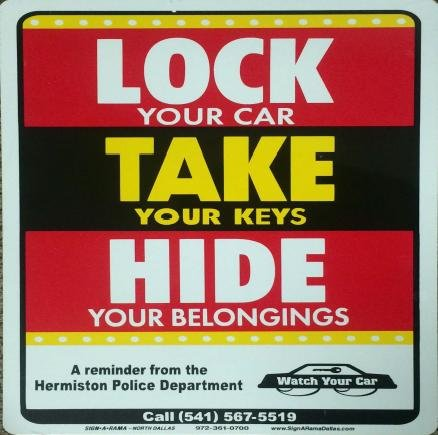 Hermiston Police are crunching the numbers when it comes to stolen cars, trucks and vehicles in the city.