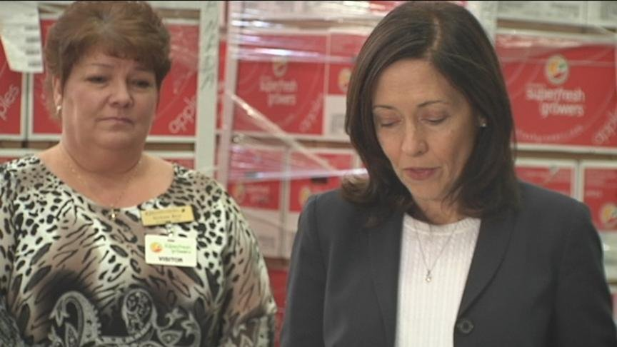 Senator Maria Cantwell was in our neck of the woods Thursday discussing the newly passed farm bill.
