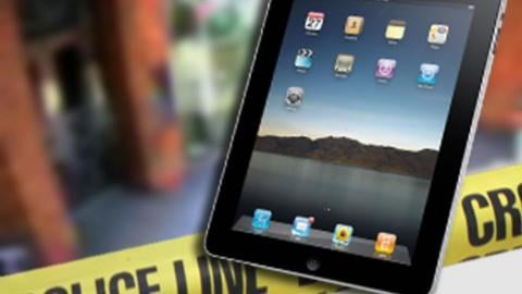 Kennewick police are looking for a man who stole a demo iPad Air, from the T-Mobile store, inside the Columbia Center Mall, Monday evening.