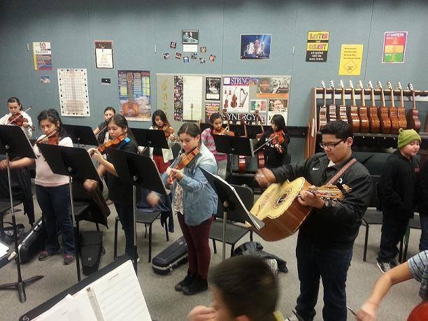A local middle school is tracing the vibrant history of Latino music. It sounds like a history lesson, but it's a fun one!