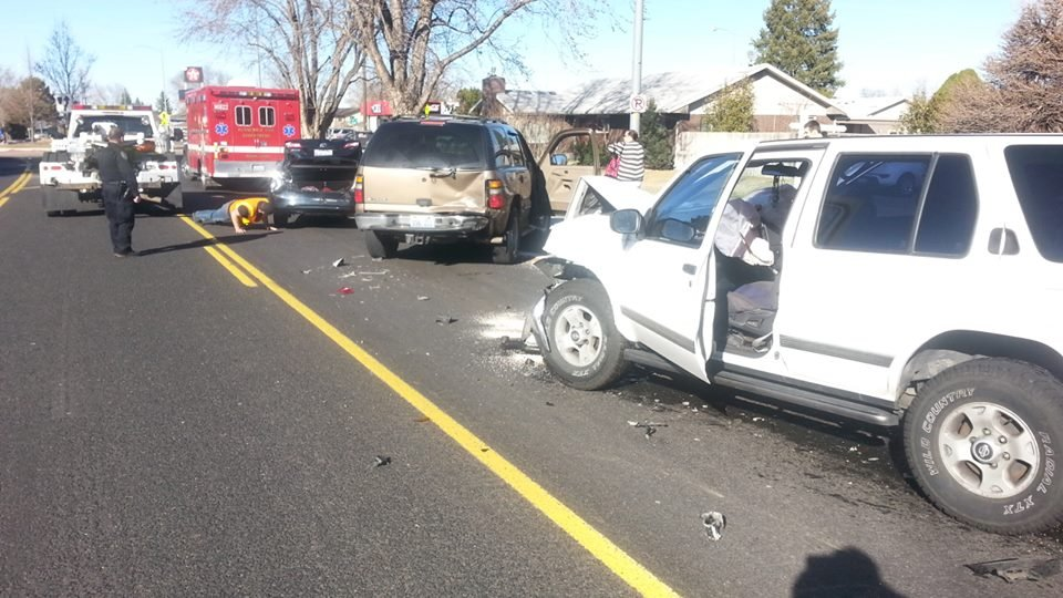 NBC Right Now is at a three car accident on Union Street in Kennewick just south of the roundabout at 4th Avenue.