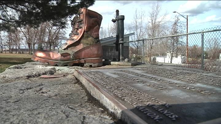 Local veterans believe vandals damaged a memorial that has stood for more than a decade.
