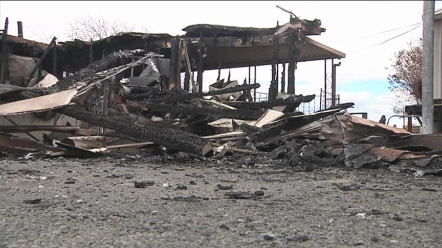 A fire in Wapato destroyed a manufactured home Sunday afternoon.