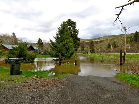 The National Weather Service says the Umatilla River recently hit its seventh highest level ever, causing minor flooding in Pendleton.