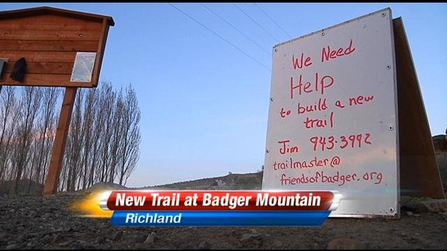 If you've been to Badger Mountain in Richland recently, you may have noticed some signs about a new trail.