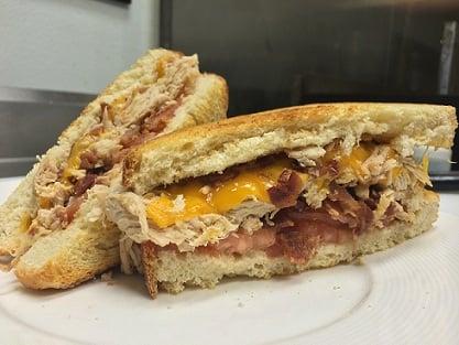 Turkey Bacon Melt Sandwich