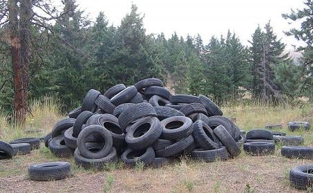 The Kittitas County Public Works Department says people continue to illegally dump tires along county roads and state highways.