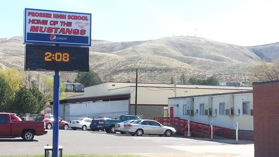 Seven people were taken to the hospital to be checked out, after students and staff noticed an odorless irritant coming from a restroom at Prosser High School Tuesday afternoon.