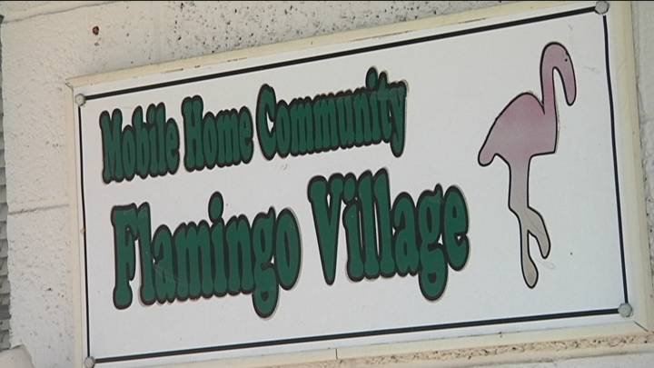 NBC Right Now was on the scene Monday night as dozens of residents at the Flamingo Village Mobile Home Park in Pasco stormed the front office, upset that they had no water.