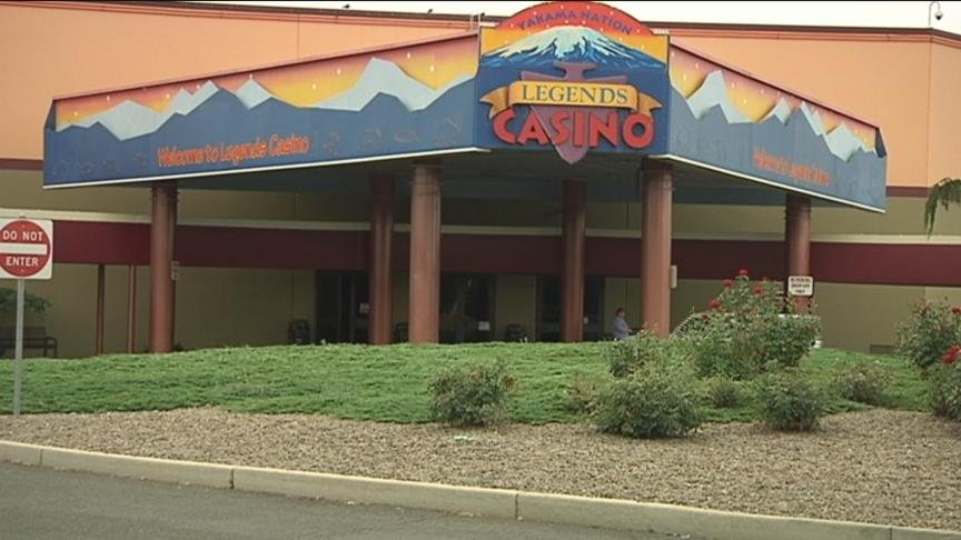 Federal authorities said the suspicious device found outside Legends Casino in Toppenish Tuesday morning was not a bomb.