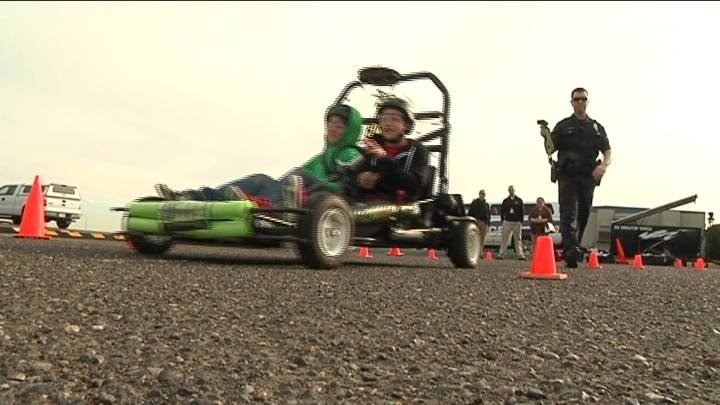 Students at New Horizons High school in Pasco learned what it's like to drive under the influence Friday morning.
