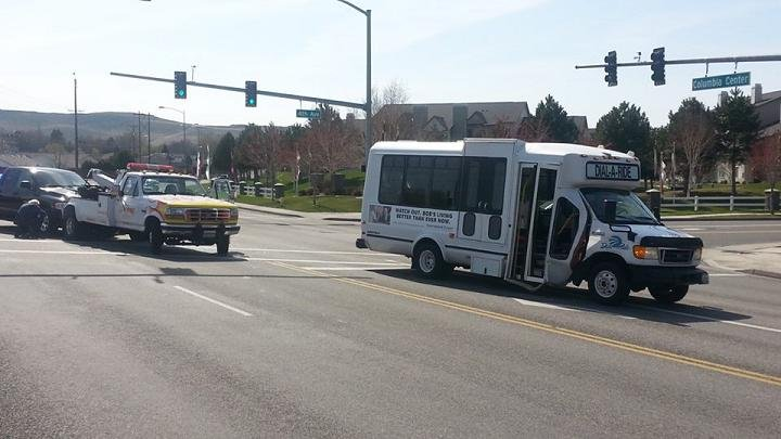 Kennewick police are investigating after an accident at 4th Ave. and Columbia Center Blvd. on Monday.