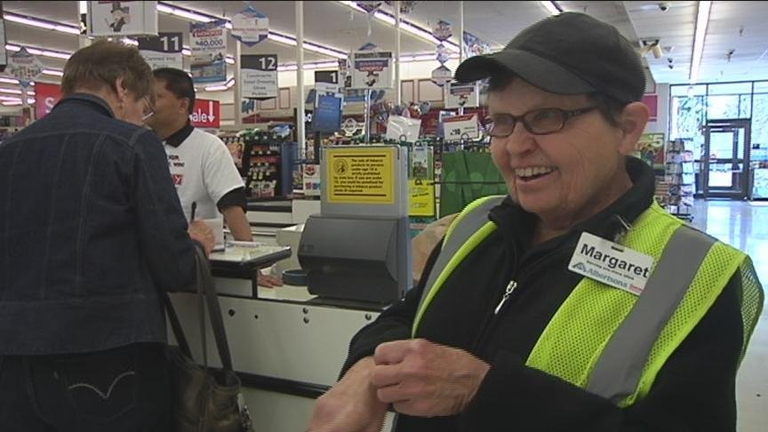All of us can use a reminder to smile and be grateful every once in a while, especially in the middle of a long work week. For employees at Albertson's on 40th Avenue, Margaret is that reminder.